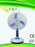 16 Zoll Gleichstrom-12V nachladbarer Ventilator-Solartischventilator-