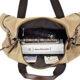 余暇の固体ジッパーのスポーツPUのキャンバスの週末旅行ダッフルバッグ