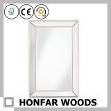 """26.5 """" [إكس] 32.5 """" رماديّ ينهى جدار مرآة في إطار خشبيّة لأنّ زخرفة"""
