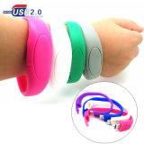Kundenspezifische Silikon-Armband-Handgelenk-Band USB-Stock-Massenlaufwerke