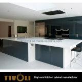 木の食器棚の現代デザイン台所家具(AP036)を塗っているMDF
