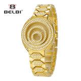 Horloge van het Kwarts van de Wijzerplaat van de Bal van de Ring van het Roestvrij staal van de Manier van het Horloge van de Dames van Belbi het Edele Waterdichte