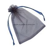 Promocionales personalizados con cordón de nylon no tejida de organza bolsa de satén