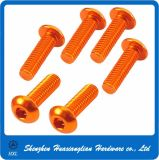 ISO7380 / DIN7991 M2 / M3 / M4 / M5 / M6 Anodizado Colored Hex Socket Head Parafusos de alumínio