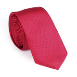 100% cravate tissée en toile de soie en polyester (NT-022)