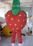 Traje vermelho da mascote da fruta do traje da mascote da série da morango