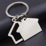 Metal Keychain (MK-077) de la dimensión de una variable de la casa del regalo de la promoción
