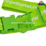 """Courroie verte estampée de bagage du polyester de haute qualité 2 """" avec la boucle en plastique"""