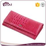 Бумажник крокодиловой кожи неподдельной кожи типа оптовой продажи бумажника женщин хорошего качества длинний
