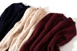 Kundenspezifische Luxuxqualität stricken Mann-Strickjacke-Wolljacke-Pullover mit der Hand
