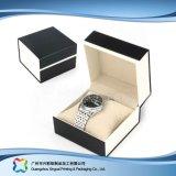 Rectángulo de empaquetado de la cartulina del reloj de la joyería de la visualización de madera de lujo del regalo (xc-hbw-005)