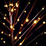 Decorações pequenas estrelados da luz da árvore do galho do diodo emissor de luz do jardim