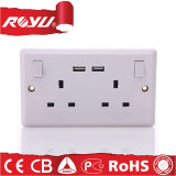220V Universal Multi Power USB Wall Socket Outlet