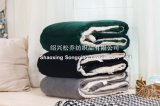 毛布黒いShuのベルベティーン毛布/Customを持つSherpaの羊毛毛布/ミンク