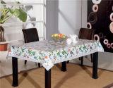 Tablecloth/Oilcloth impressos PVC de China LFGB com revestimento protetor do Nonwoven/flanela