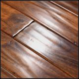 Handscrapedの小さい葉のアカシアの固体木の床