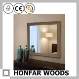 """26.5 de """" espelho Finished cinzento da parede X 32.5 """" no frame de madeira para a decoração"""