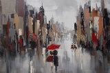 Peinture à l'huile de rue abstraite moderne