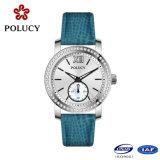 Acero inoxidable 316L delgado reloj de las mujeres de piedra