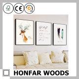 Подгонянная рамка плаката картины Brown размера деревянная для домашнего украшения