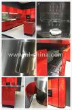 Module de cuisine rouge à haute brillance d'acier inoxydable de laque de N&L