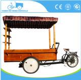 ファースト・フードの三輪車のコーヒー販売のカートのコーヒーバイク3の車輪のコーヒーバイク