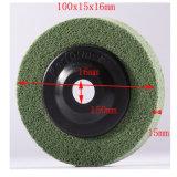 100X15mm grüner Auflage-Nylonplatten-Pinsel-nichtgewebte reibende Platte des Reinigungsapparat-5p