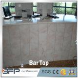 Parte superiore superiore di marmo bianca barra/della Tabella pranzante