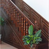 現代屋内切り分けられた木製の螺旋階段(GSP16-004)