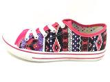 新しい到着の女性の注入の偶然靴の平らなズック靴(FFDL0114-01)