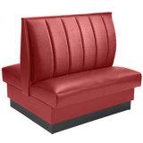 Cabina lateral doble del restaurante que asienta el sofá de los alimentos de preparación rápida (HD367)