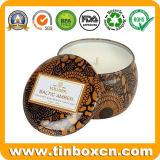 Nahtloser runder Kerze-Zinn-Kasten für das Wachs-Verpacken