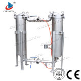 Cárter del filtro industrial del cartucho del bolso del paralelo del duplex de la filtración del agua del acero inoxidable de la etapa multi