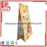 Heißsiegel-Stützblech-Fastfood- mit Reißverschluss Aluminiumfolie-Plastiktasche