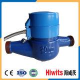 Mètre potable d'écoulement d'eau d'acier inoxydable de Hiwits avec la boîte de vitesses éloignée non magnétique