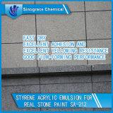 Excellente émulsion acrylique de jaunissement de styrène résistant pour la peinture en pierre réelle