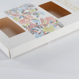 Empaquetado de lujo impreso insignia de encargo del rectángulo de regalo de la cartulina