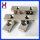 Seltene Massen-Block-Magnet mit Löchern