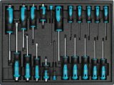 Conjunto de ferramentas de trole de 6 gavetas Heavy Duty na bandeja de ferramentas (FY249A1)