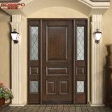 Porte avant extérieure de Chambre en bois de double d'entrée avec Lites (GSP1-036)