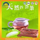 L'aloe secco sano del tè di erbe affetta il tè