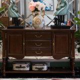 Американский шкаф стороны твердой древесины типа для мебели As808 гостиной