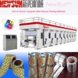 Machine d'impression automatisée par série de gravure de film de PVC de longeron d'asy-e