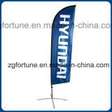 Personalizado Beachflag al aire libre lágrima de la publicidad indicador de la bandera de Vela