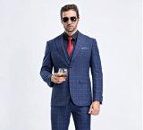 3 Stückmens-blaue Check-Form-Kleidungs-Anzüge