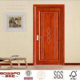 Puertas interiores talladas mano de la chapa de madera sólida de la teca (GSP8-020)