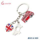 Kundenspezifische Entwurfs-weicher Decklack-London-Schlüsselkette für Andenken