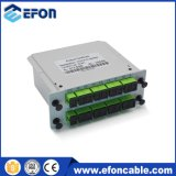Divisor ótico passivo de encaixe do cartão do PLC de Digitas da caixa de 1*16 Sc/Upc Lgx