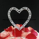 Cappello a cilindro della torta di cerimonia nuziale del cuore del Rhinestone di amore per la decorazione della torta