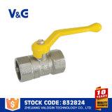 Válvula de gas de cobre amarillo del cilindro de oxígeno (VG-A62071)